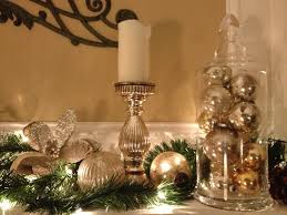 Ball Table Decorations Gold Christmas Table Centerpieces
