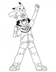 coloring page outstanding pokemon coloring pages ash page