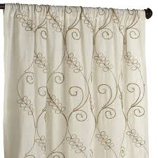 108 Drapery Panels Embroidered Jute Curtain Pier 1 Imports