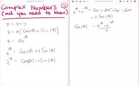 Sin Cos Tan Worksheet Complex Numbers 4 4 Cos And Sine To Complex Exponential Youtube