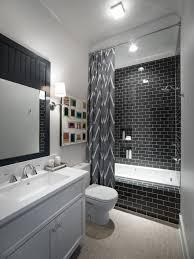 photos hgtv modern black and white bathroom with zebra wallpaper