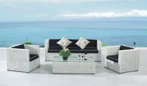 White Resin Wicker Loveseat White Wicker Loveseat Lanai Style Traditional Patio Furniture