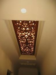 Kitchen Fluorescent Light Covers by Canvas Ceiling Light Cover For The Hideous Hospital Like Lighting