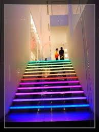 led strip lights for stairs rainbow light stairs by starmekitten rainbow essence pinterest