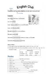 english teaching worksheets comparatives and superlatives