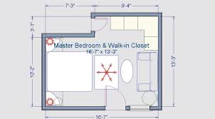 Bedroom Plans Walk In Closet Plan Zamp Co