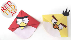 angry birds crafts easy bookmark corners michelle u0027s cuties