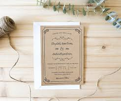 rustic wedding invitation templates free printable wedding invitation template