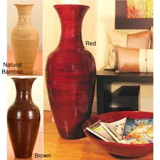 Oversized Vase Large Floor Vases Imax Tiago Tall Floor Vase Brown Stone