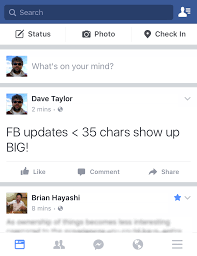 fb update how do i get bigger text in my facebook update ask dave taylor