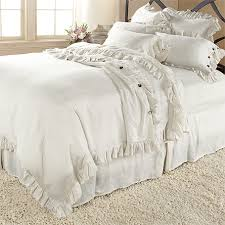 ava king duvet cover with frayed ruffle in white arhaus furniture