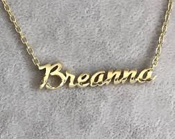 custom name necklace gold gold name necklace etsy