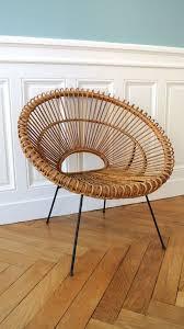 bureau en rotin fauteuil en rotin des années 50 janine abraham solveig vintage