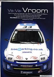 renault clio v6 rally car team clio v6 trophy magazine article mark fish motorsport