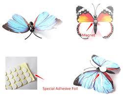 12pcs 7 colors 3d layer butterfly wall sticker fridge