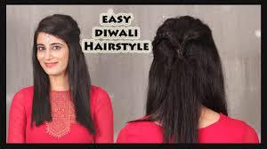 Easy New Hairstyles Long Hair by Fomo Easy Diwali Hairstyle Hindi Youtube
