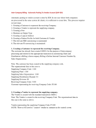inter company billing automatic posting to vendor account sap