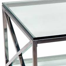 Glass Coffee Tables by Chrome And Glass Coffee Table Coffee Tables Thippo