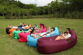 polan fast inflatable air lounger waterproof durable fabric lazy