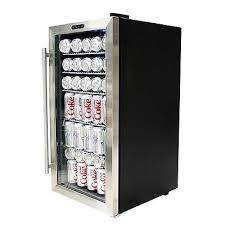 beer refrigerator glass door 120 can cooler beverage center soda beer fridge drink freestanding