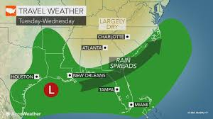 may thanksgiving travel across part of southern us