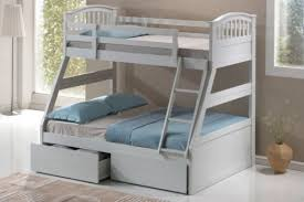 WHITE THREE SLEEPER BUNK BED WITH QUILTED MATTRESSES FREE NEXT DAY - Next bunk beds