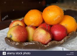 Fruit Bowls by Fruit Bowl Containing Oranges And Apples Stock Photo Royalty Free