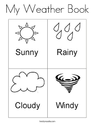 Kindergarten Weather Worksheets My Weather Book Coloring Page Http Designkids Info My Weather
