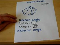 Finding Interior Angles Of A Polygon Worksheet The Trick To Finding Interior And Exterior Angles Easily Gcse