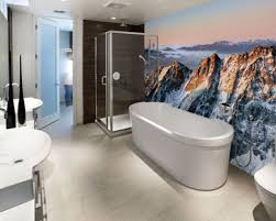 Decor Home Ideas by Modern Bathroom Wallpaper Bathroom Decor