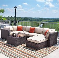Patio Furniture Sectional Sets - signature design by ashley renway outdoor sectional set with