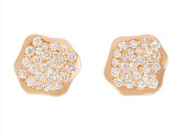 diamonds earrings bombay 18k yellow gold with pave diamonds earrings rad bijoux