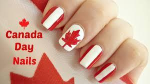 canada day nail art youtube