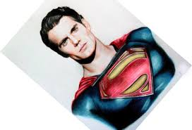 drawing man steel superman