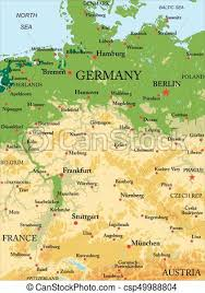 geographical map of germany germany physical map highly detailed physical map of vector