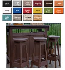 Patio Bar Height Dining Table Set Bar Height Chairs Outdoor Poly Furniture Better Than Wood
