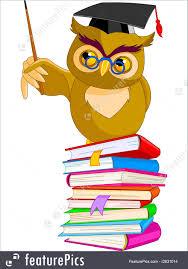 cartoon wise owl illustration