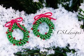 wirework christmas wreath earrings christmas youtube