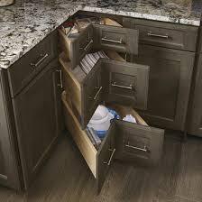 Corner Drawers KraftMaid - Kitchen cabinets corner drawers