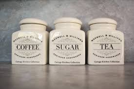 tea coffee sugar canisters housewife in pearls tea coffee canisters