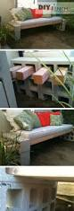 Diy Patio Furniture Cinder Blocks Diy Cinder Block Bench