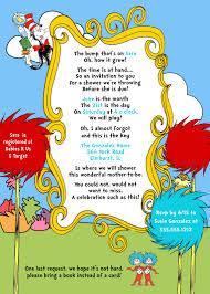 dr seuss baby shower invitations dr seuss cat in the hat baby shower invitation
