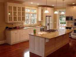 small house kitchen ideas design modern wood cabinet and countertop breakfast bar with