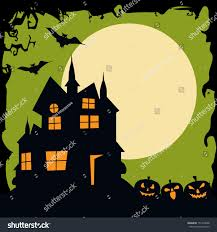 haunted house clipart vintage pencil and in color haunted house