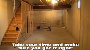 How To Frame A Wall by Basement Framing Layout Tips Youtube