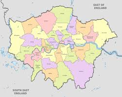Counties In England Map by Map Of London 32 Boroughs U0026 Neighborhoods