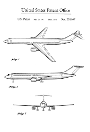 boeing airplane patent airplane blueprint pilot gift aircraft