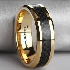 black gold mens wedding band black tungsten and gold mens wedding bands up my alley