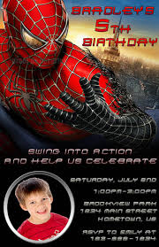 spiderman birthday invitations template free invitations ideas