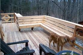Cedar Deck Bench Wooden Deck Bench Seat Cedar Wood Deck With Built In Seating Area